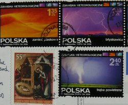 polish stamps of weather events