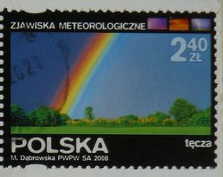 rainbow postage stamp from Poland
