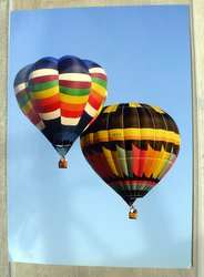 two balloonists postcard