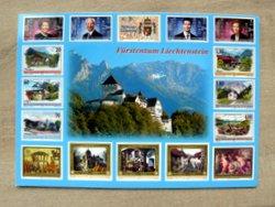 Vaduz Castle Lichtenstein postcard