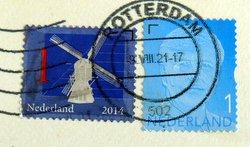 dutch postage stamp windmill