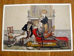 postcard illustration le trio sentimental